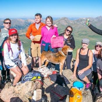 Homeadvisor - Employees climb Mt. Bierdstadt to support Climbing 4 Kids.