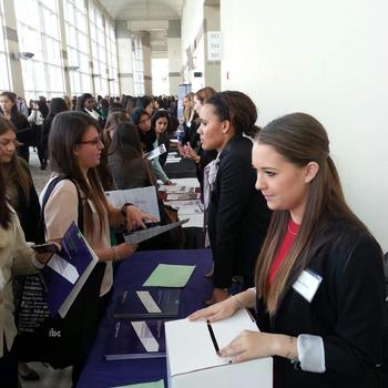 Kaplan Test Prep - Talking to Students at the 'Women of Harvard' conferance