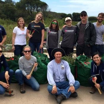 Causecast - Volunteering is in our DNA- Muir Beach Cleanup 2015 with Red Tricycle and the National Parks Conservancy