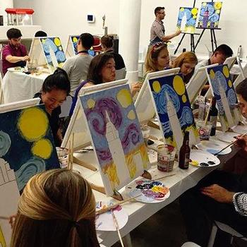 Betaworks One, Inc. - Paint and  sip night at the studio