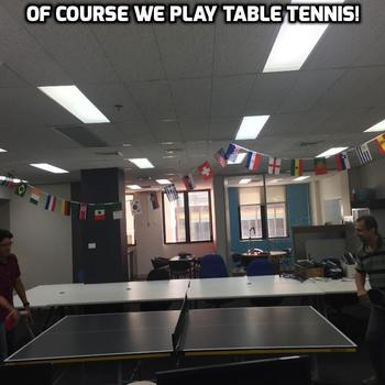 DiUS - We work in technology so we know it's your right to play table tennis!