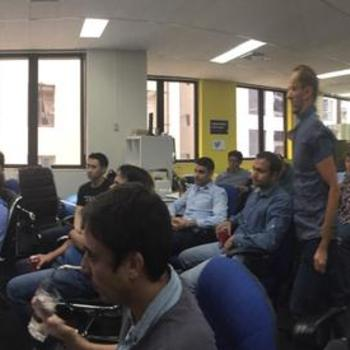 DiUS - Regular (catered!) team catch ups and knowledge sharing at SIGs, Hack Days and Brown Bags.