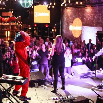 LiveIntent - At LiveIntent we rock, literally! The company band, RIFFF, performing at the 2015 kick-off at Brooklyn Bowl.