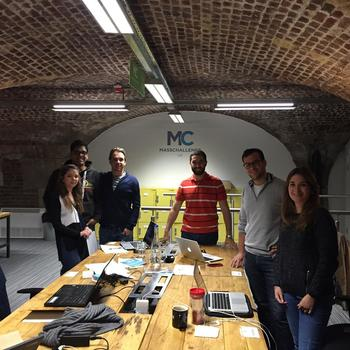 Moteefe - Our small and friendly team at MassChallenge accelerator in 2015