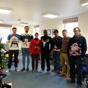 Webigence Ltd - Some of the Webigence team wearing Christmas jumpers for charity.