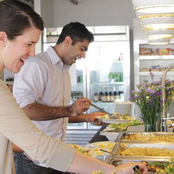 The Climate Corporation - With free, catered meals, lunchtime is always a happy time.