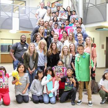 Underground Elephant - UE employees spending some time with children from a 4th grade class at the Monarch School of San Diego after donating toys!