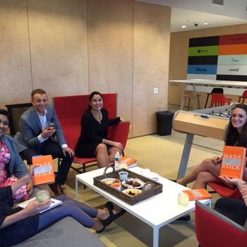 Placed - Sometimes we have book club meetings on Fridays.  The team votes on a relevant book to read and we discuss over drinks and snacks.