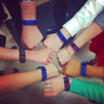 Ted Todd Insurance - Our team members sporting their company fitbits as they prepared for a new monthly contest.