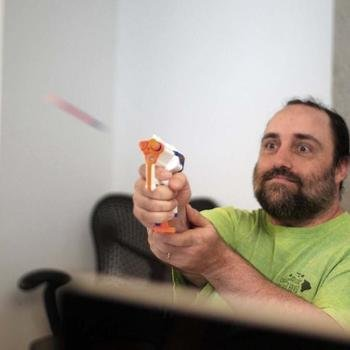 Directly - Beware spontaneous Nerf wars instigated by one of our co-founders