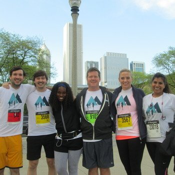 Marin Software - The Chicago office participated in the JP Morgan Chase Run, 2014.