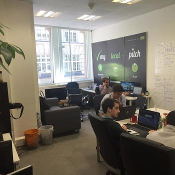 MyLocalPitch - Our office in Holborn