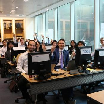 FactSet - Our new hire class! They completed their 5 week training today in our London office!