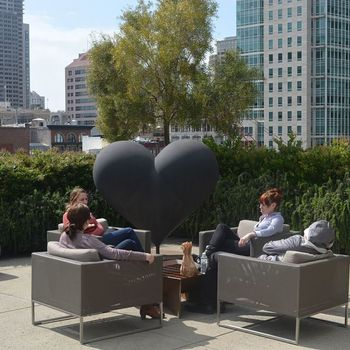 Galvanize - Amazing new space in SOMA. We have the entire 70,000 square foot building. Here is a picture of our roof top.