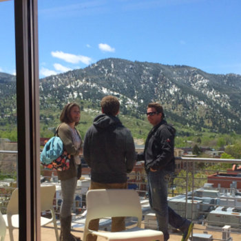 Galvanize - View of the Flatiron mountains from our Boulder Campus.