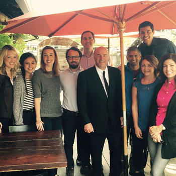 Honeyfund.com, Inc. - The Honeyfund team hanging out at Hop Monk Tavern with Mr. Wonderful.