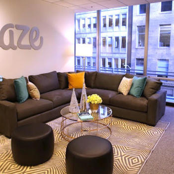 Eaze - We work in a bright, sunny and open office in the Financial District.