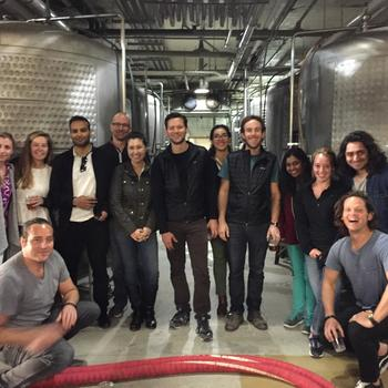 Couchsurfing - Touring the Anchor Steam Brewery as a team