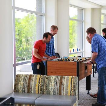 Ancestry - Mid-Day foosball break at HQ in Provo, UT