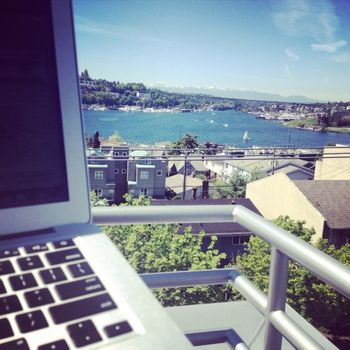LiquidPlanner - The view from one of our balconies on Eastlake