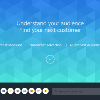 Quantcast - The Quantcast home page made by our in-house design team