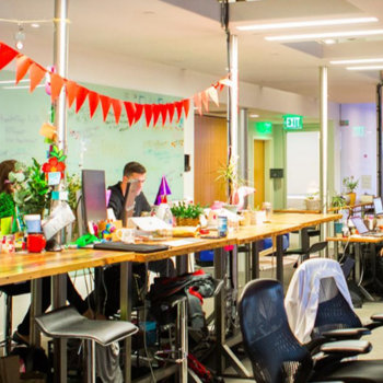 HealthTap - A Bit of Bunting Makes the Whole Office Festive