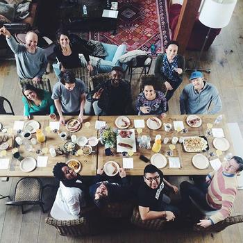 Fluent City - Fluent City Off-site 2016 - a lavish dinner at our forest retreat