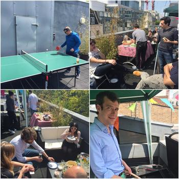 Sohonet - Kicking off summer time on our London office rooftop terrace!