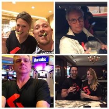Sohonet - Delivering t-shirts to customers at NAB - we were all over Vegas!