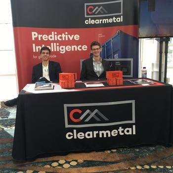 ClearMetal - The conference booth in all its splendor.