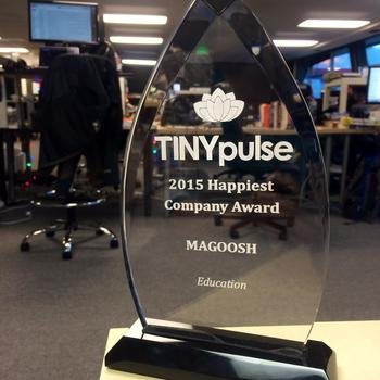 Magoosh - Happiest Company in Education Award from TinyPulse