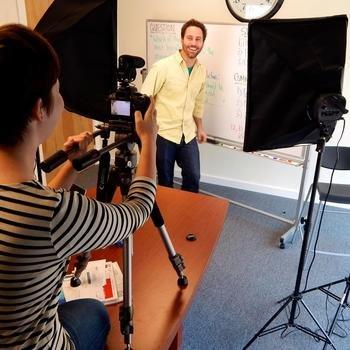 Magoosh - Filming an episode of GMAT Tuesdays