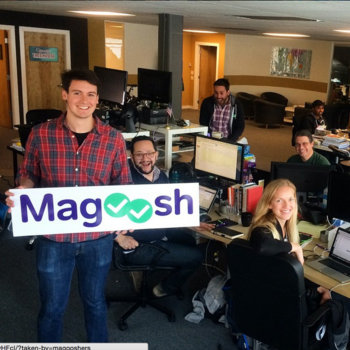 Magoosh - Our new office sign
