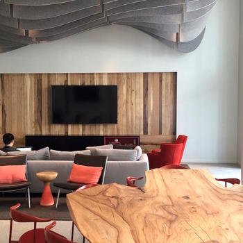HomeShare - Our CEO Jeff, hanging out in the resident lounge at one of our apartment buildings.