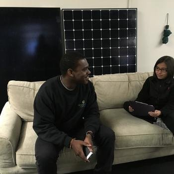 Green Street Solar Power - Being interviewed for a school project
