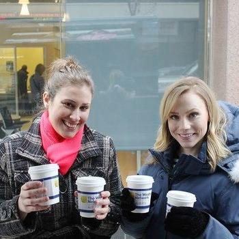 The Weather Network - We hand out free coffee to locals during the frosty weather