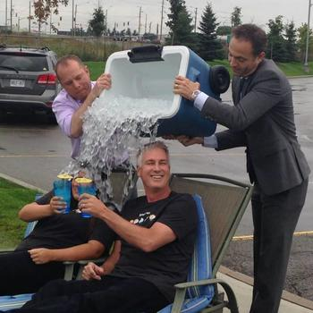 The Weather Network - Ice Bucket Challenge; we enjoy participating in good causes