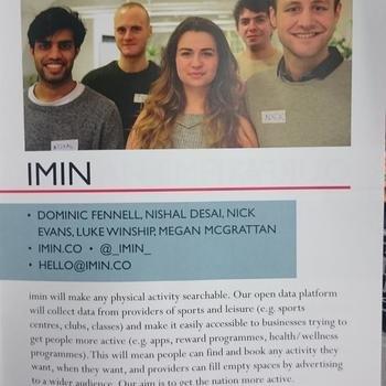 IMIN LTD - We came through the Bethnal Green Ventures accelerator