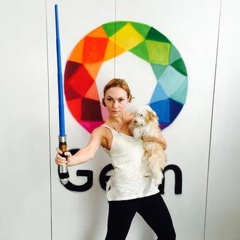 Gem - May the 4th at Gem! A jedi and her wookie.