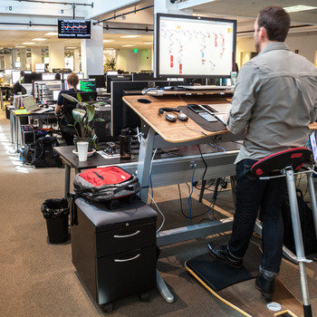 The Meet Group - Standing Desks, Check. Brand new equipment of choice, Check.
