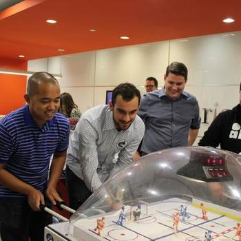 Ariad Communications - We have fun in the office with our table hockey