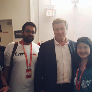 Overbond Ltd - Overbond with the Mayor of Toronto, John Tory, during Tech Week TO