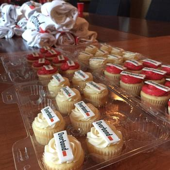 Overbond - Satisfying everyone's sweet tooth during our launch with cupcakes!