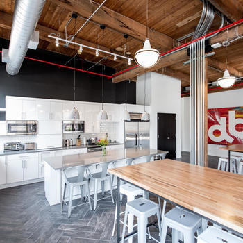 Devbridge Group - Chicago office kitchen.