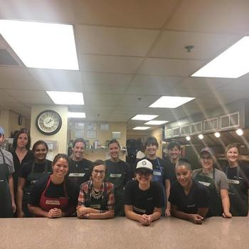 PatientsLikeMe - We work hard but make sure to take time to give back!  We had a great time working with the team at Rosie's Place.
