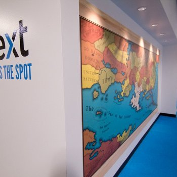 Yext - We couldn't help but check out this awesome map again on our way out.
