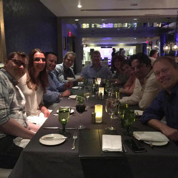 ValiMail - The whole team at dinner