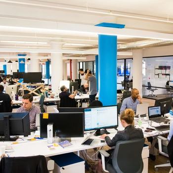 CommonBond - Open plan office area.
