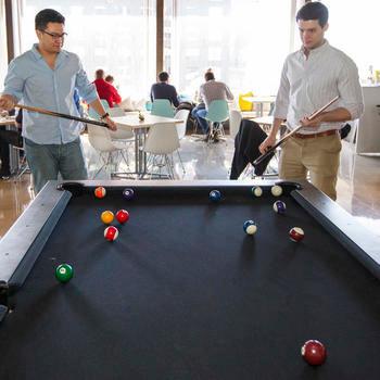 Akuna Capital LLC - Taking a little break in our lunchroom.