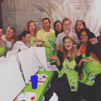 Rainforest QA - Ladies night team event at PaintNite!